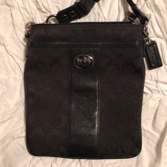 Coach Handbags - Black canvas Coach Crossbody purse 56fe71b6da06